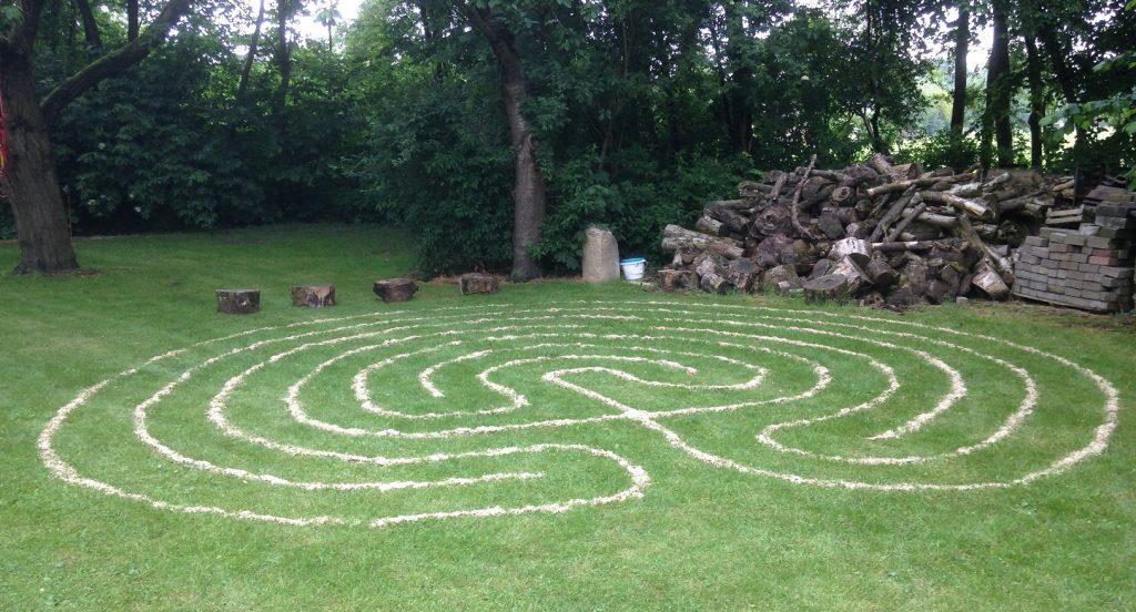 labyrint van vlas